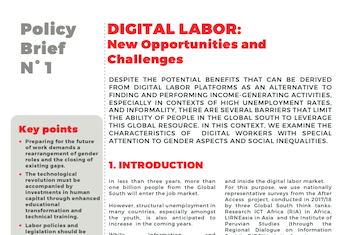 AfterAccess - Digital Labor - New Opportunities and Challenges (Policy Brief 1) cover