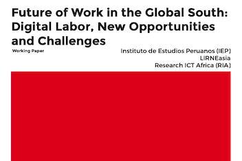 AfterAccess - Future of Work in the Global South - Digital Labor, New Opportunities and Challenges (Working Paper) cover